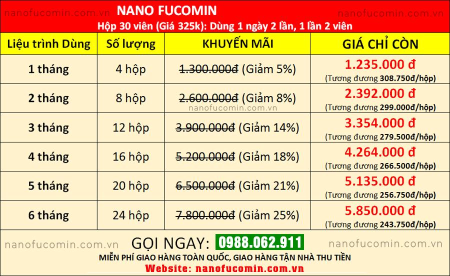 Liệu trình chuyên gia khuyên dùng Nano Fucomin